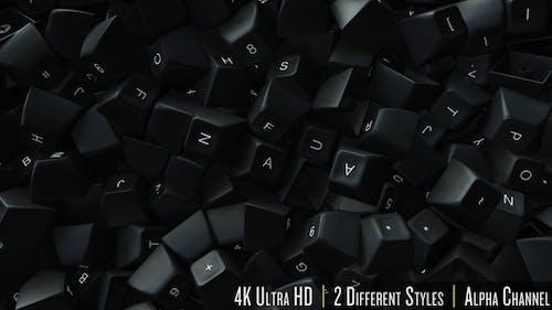 4K Computer Keyboard Keys Fill Screen