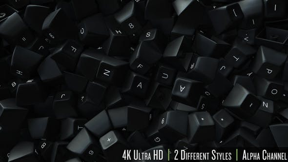 Thumbnail for 4K Computer Keyboard Keys Fill Screen