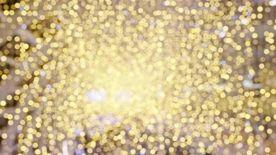 Thumbnail for Blur golden shiny decoration in golden color