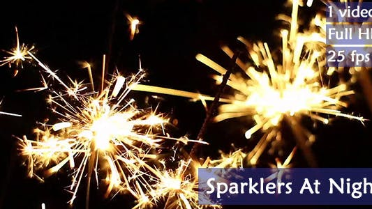 Thumbnail for Sparklers At Night