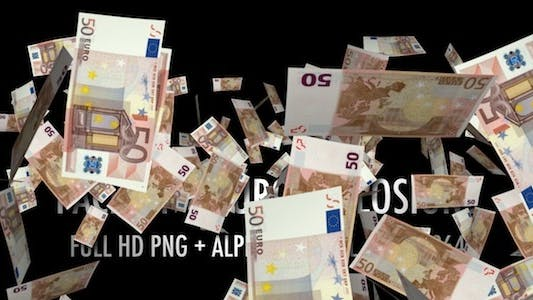 Thumbnail for Money Explosion - EU Euros - Pack of 9 Clips