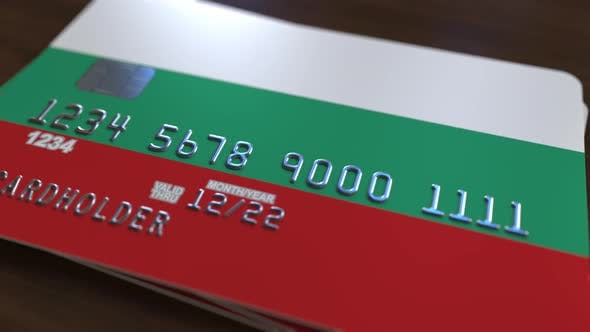 Thumbnail for Plastic Card with Flag of Bulgaria
