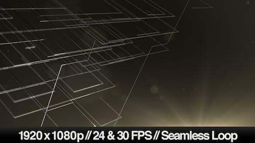 3D Abstrakte Drahtmodelllinien Schleife Hintergrund
