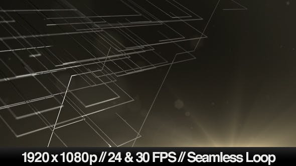 3D Abstract Wireframe Lines Looping Background