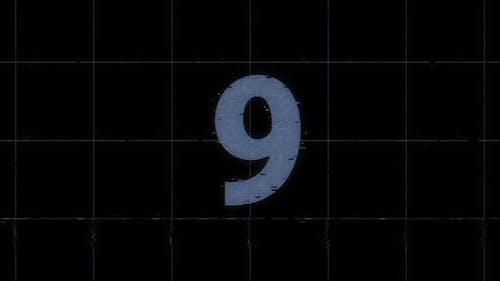 Glitch Countdown Overlay