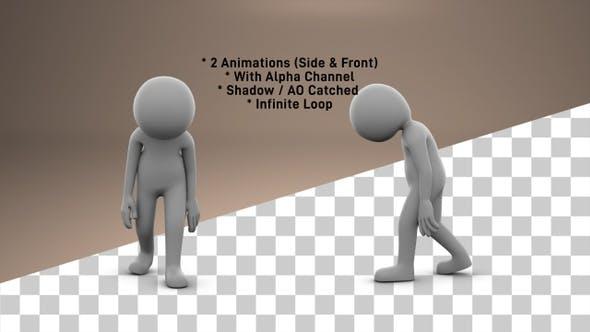 Cover Image for Stick Figure Sad Walk - 2 Pack