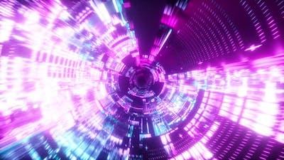 Flying Into Spaceship Tunnel, Sci-fi Spaceship Corridor