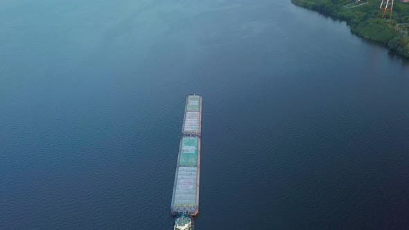 Thumbnail for Cargo Ship Floating on River