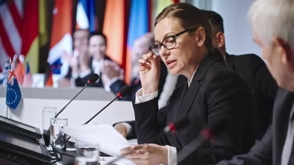 Thumbnail for Female Politician Making Fair Point