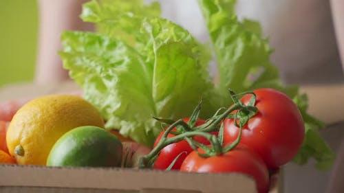 Home Lieferung von frischem Gemüse vom Markt