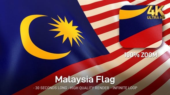 Thumbnail for Malaysia Flag - 4K
