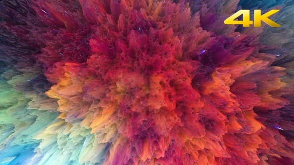 Thumbnail for Abstract Colorful Paint Background 4K