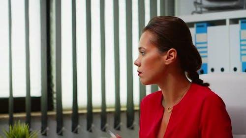 Portrait of Lady Working