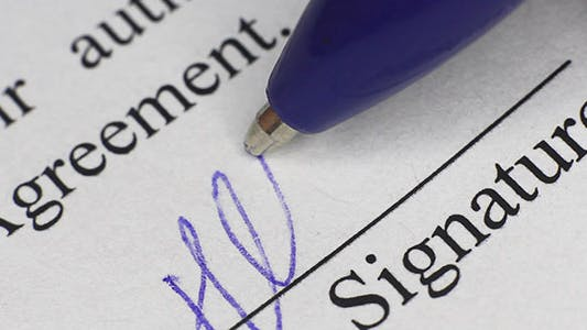 Thumbnail for Signing Contract Macro