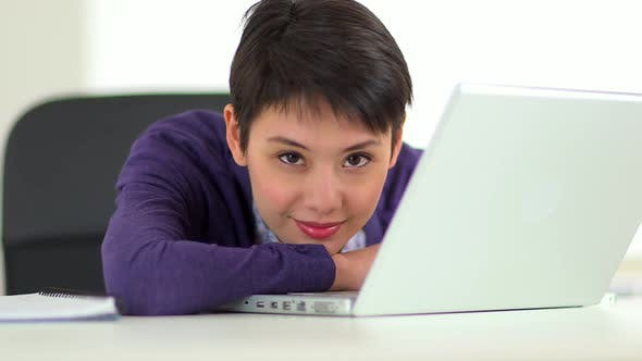 Thumbnail for Chinese businesswoman on her laptop