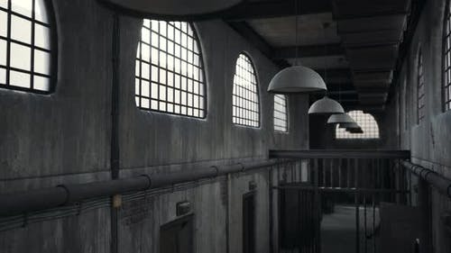 Rusty Old Prison Cell Block