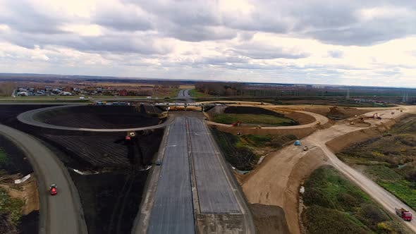 Thumbnail for Aerial Shoot of the Construction of the Road.