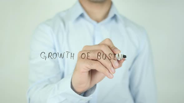 Thumbnail for Growth of Business, Writing On Screen
