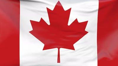 Canadian flag waving Background
