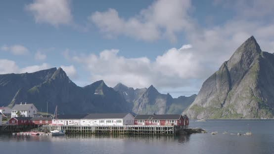 lofoten village ocean timelapse fishing environment nature