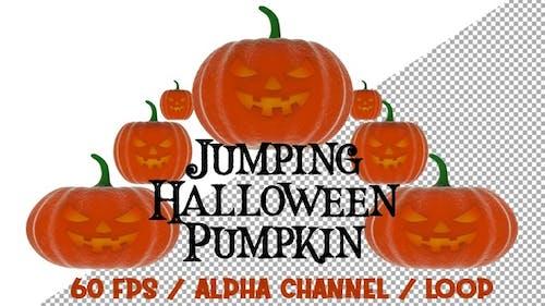 Jumping Halloween Pumpkin
