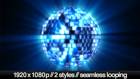 Thumbnail for Shiny Mirror Disco Ball Spinning - 2 Styles Loop