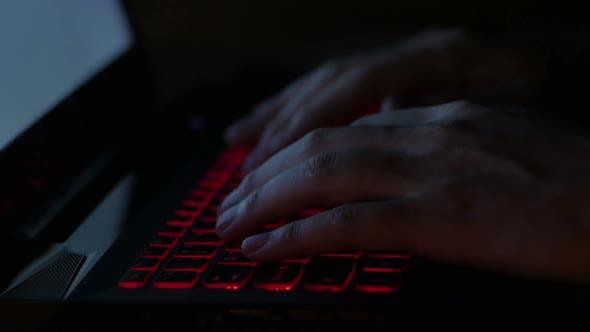 Thumbnail for Typing Laptop at Night