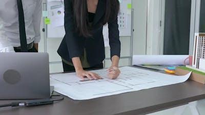 Business person design plan