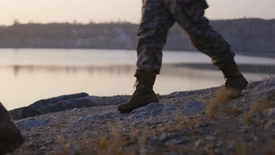 Thumbnail for Soldiers Walking By the Lake