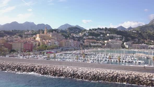 Menton Cote D'Azur France Aerial View
