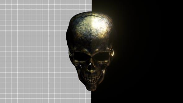 Goldener Schädel