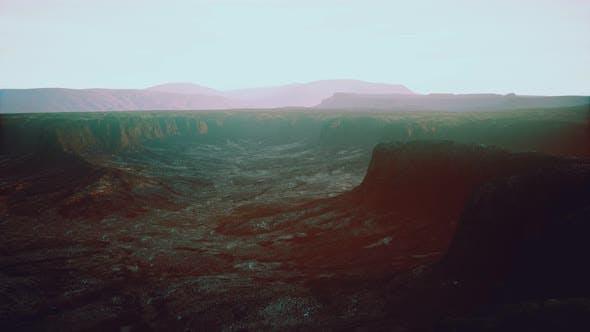 Thumbnail for Rocky Desert at Dramatic Sunrise