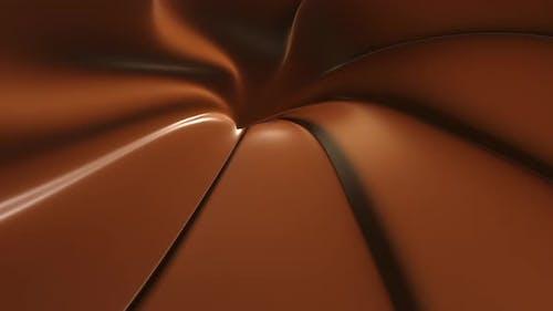 Schokoladentrüffel Rotation Nahaufnahme