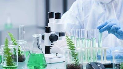Close Up Shot of Biochemist Desk