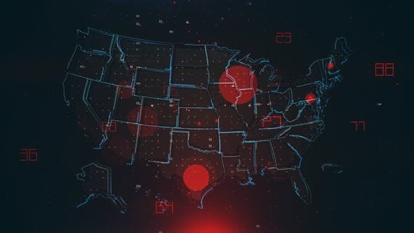 Thumbnail for Mapping Epidemic Outbreak in the United States 4K