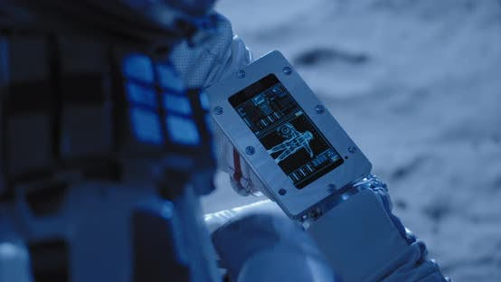 Thumbnail for Astronaut Using Touch Screen