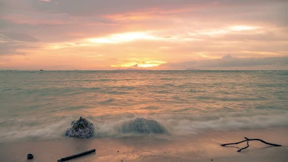 Thumbnail for Sunset on the sea on the beach of Koh Samui, Thailand