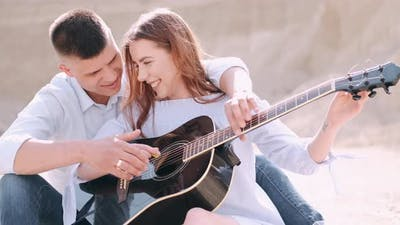 Boyfriend Teaching Girlfriend How To Play Song in Career