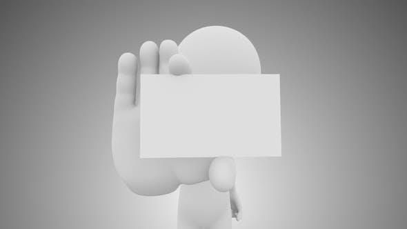 Thumbnail for 3D Man Showing Visiting Card Loop