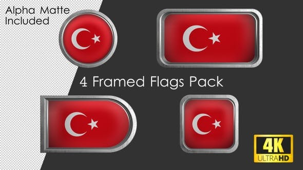 Thumbnail for Framed Turkey Flag Pack