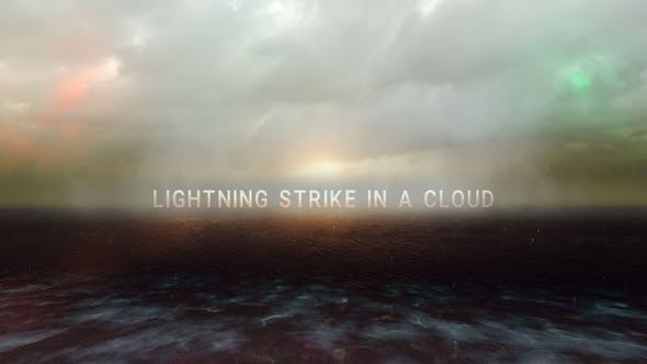 Lightning Strike In A Cloud