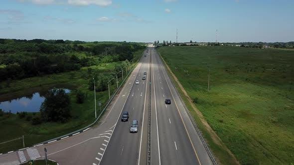 Asphalt Autobahn Highway Road In Russia