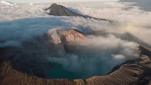 Aerial view of Kawah Ijen