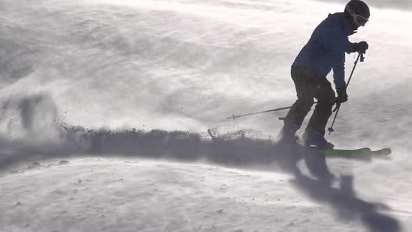 Thumbnail for Skier Makes Turns in a Blizzard