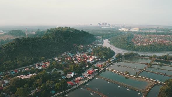 Aerial view Bukit Tambun village.
