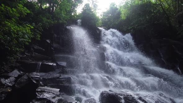 Thumbnail for Beautiful Tropical Waterfall. Bali, Indonesia