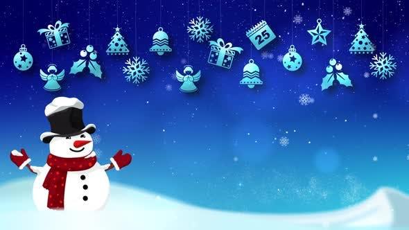 Thumbnail for Frohe Weihnachten und Frohes Neues Jahr Hintergrund 03