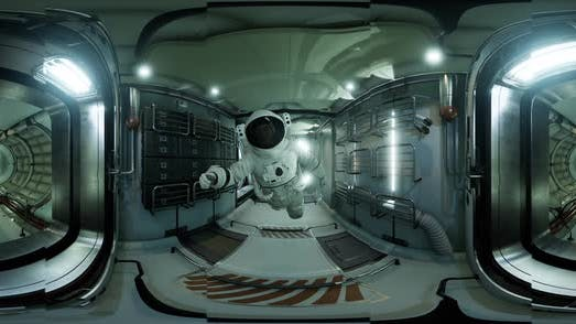 VR360 Interior of Space Station