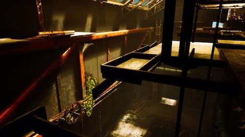 Industrial Interior of Abandoned Repair Station