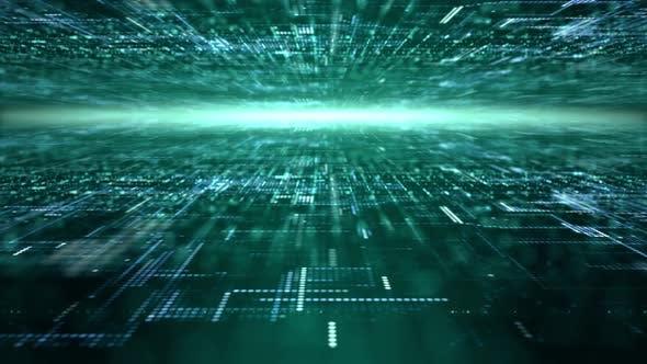 Thumbnail for Futuristic Digital Abstract Matrix Particles Grid 10